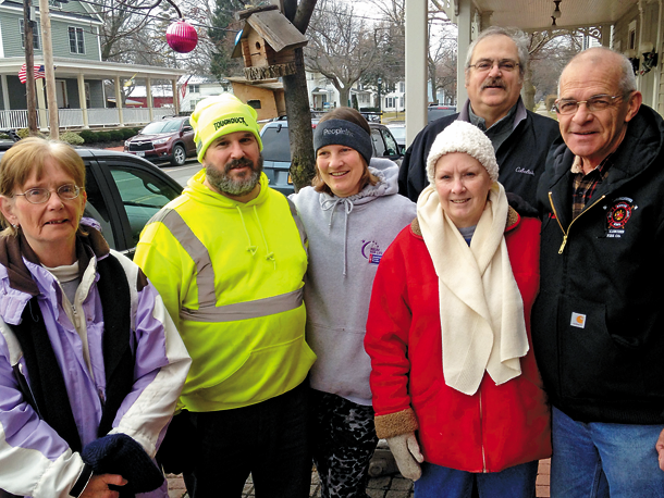 From left, participants at last weekend's Youngstown `Riverview Health Walk` included Shirley Hill House, Steve Frank, Mary Armstrong, Linda Reynolds, Deputy Mayor Tim Lockhart and Mayor Raleigh Reynolds. (PYRBA photo).