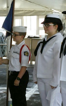 Sea Cadets Zachery and Emma Warden