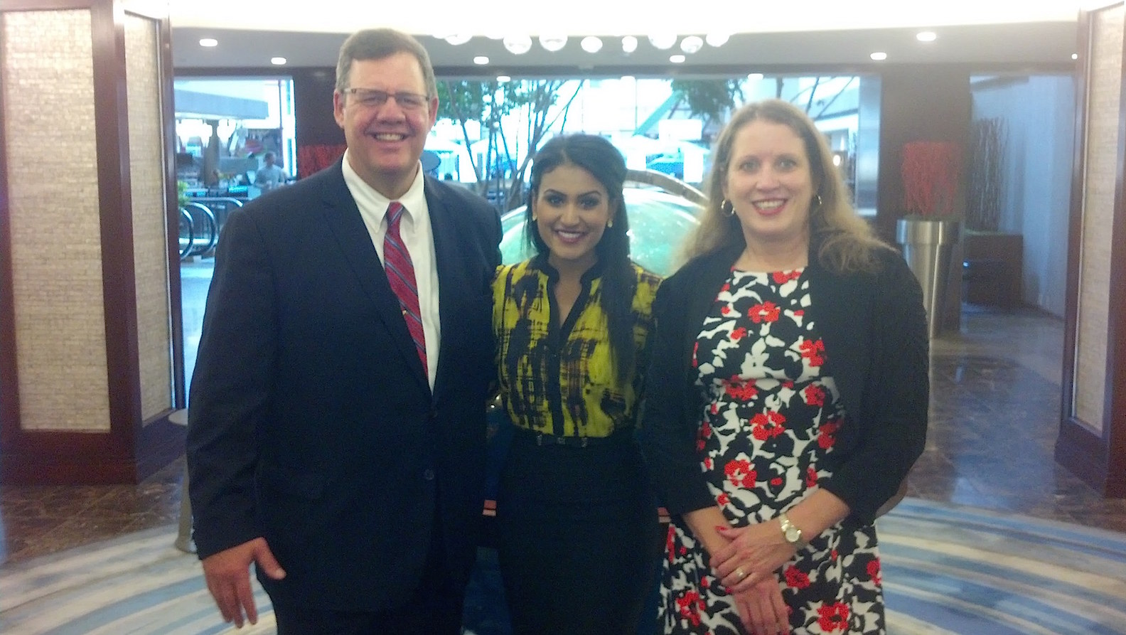 Mike and Deb with Miss America 2014 Nina Davuluri, center, whom Deb arranged to have speak at the Twentieth Century Club on behalf of the Erie County Commission on the Status of Women. Davuluri is from Syracuse.