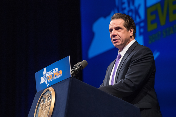 Gov. Andrew Cuomo delivers his 2017 State of the State Address to the people of Western New York. (Flickr photo courtesy of the governor's office)