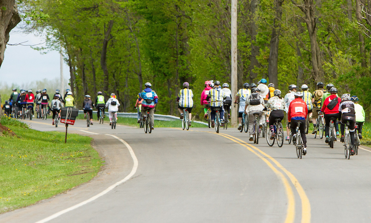 Riders take off at the start of last year's Hospice Gran Fondo bicycle ride to benefit Niagara Hospice.