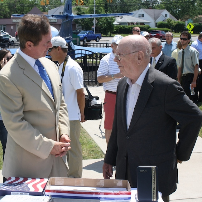 Brian Higgins, left, with Lawrence P. Titzler.