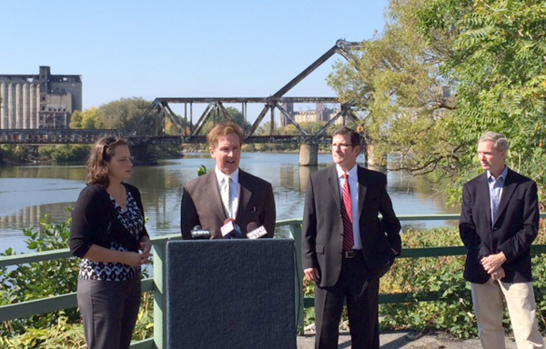 Local leaders spoke Monday about new funding to support restoration of the Buffalo River.