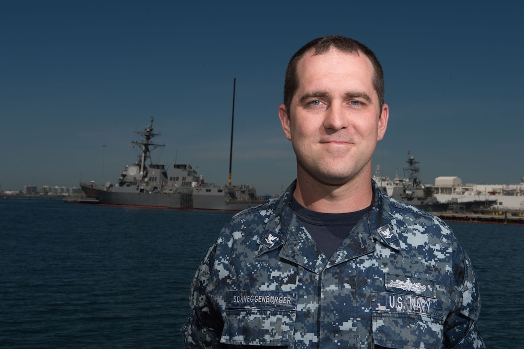 Navy Petty Officer 3rd Class Jesse Schneggenburger (Submitted photo)