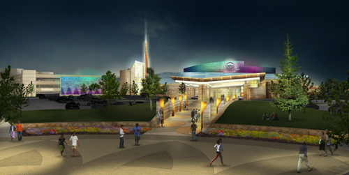 An artist's rendering of the Seneca Buffalo Creek Casino, courtesy of Seneca Gaming Corp.