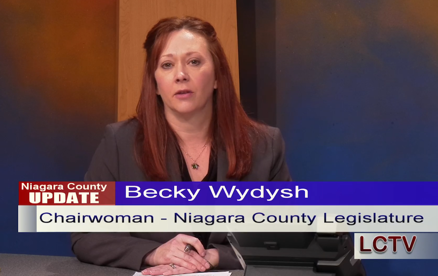 Niagara County Legislator Chairwoman Becky Wydysh and Public Health Director Daniel Stapleton updated residents Monday at LCTV.