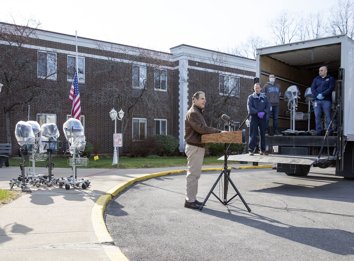 Gov. Andrew M. Cuomo made an announcement Sunday at Pathways Nursing and Rehabilitation Center in Niskayuna. (Photo by Mike Groll/Office of Gov. Andrew M. Cuomo)
