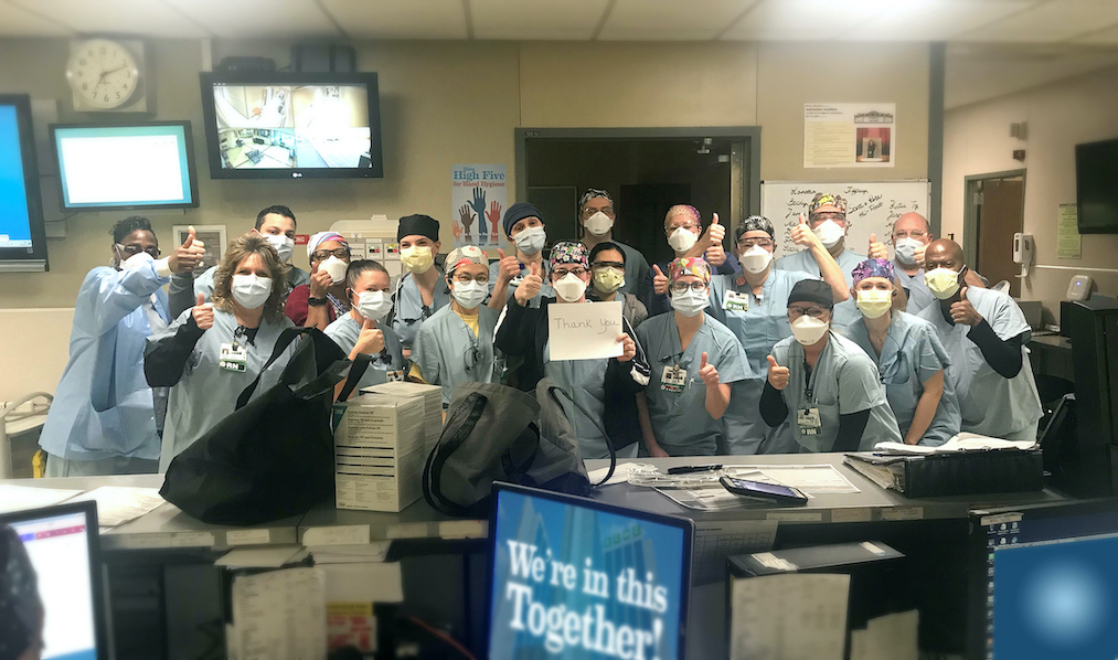 In an email Friday morning, ECMC emergency department nurses conveyed their thanks to ECMC leadership for providing them with PPE, and supporting them through the COVID-19 pandemic.