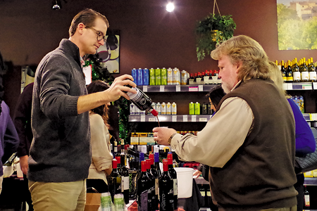 Ryan Seward of Polaner Selections was among those providing wine tasting at the anniversary event.