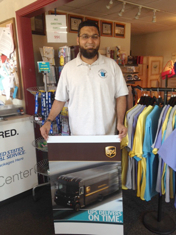 Fahim Mojawalla of the Island Ship Center earned Authorized Shipping Outlet status from UPS.