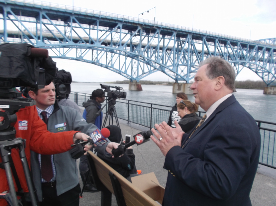 Assemblyman John Ceretto addresses the media.