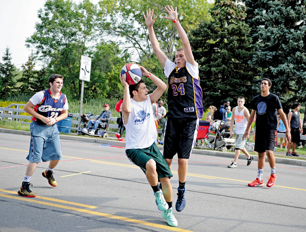 The Gus Macker 3-on-3 Tournament took place on Grand Island last weekend. (Photo by K&D Action Photo and Aeriel Imaging)