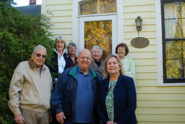 From left, front row: Bill Koch (chairman), Joe Macaluso, and Jodi Robinson (town historian). Back row: board members Carolyn Doebert, Sharon Nichols, June Crawford and Myers.
