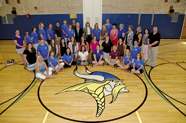 The Kaegebein Elementary School faculty and staff said `Welcome Back` to students and families this week and said they're looking forward to the 2015-16 school year. The school will hold an open house Thursday, Sept. 17. (Photo by Larry Austin)