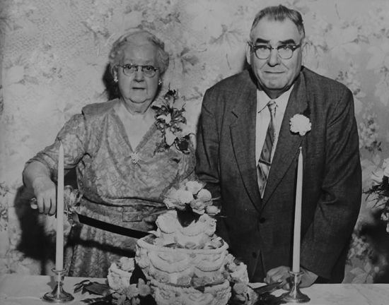 William and Dora Kaegebein celebrate their 50th wedding anniversary. (Photo courtesy Bob DeGlopper)