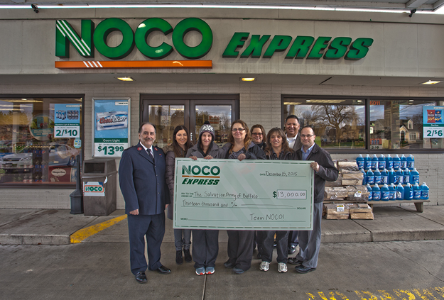 NOCO Express customers and employees donated $13,000 to support The Salvation Army of Buffalo.