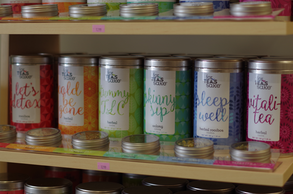 For Tea's Sake is a new offering at Pink Martini Gift Shop. (Photos by Larry Austin)