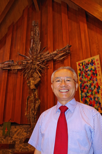 The Rev. Dr. Sung Ho Lee is the new pastor at Trinity United Methodist Church. (Photo by Larry Austin)