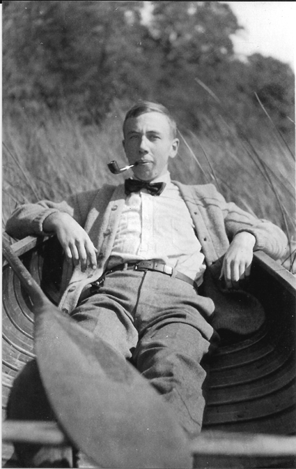 The late Roswell Pfohl of Grand Island relaxes in a canoe in this family photo. He was in his 20s or early 30s at the time. Pfohl, who died in 1972, was a prominent area architect and a member and historian of the Buffalo Launch Club. (Photo Courtesy of Peggy Bauman)
