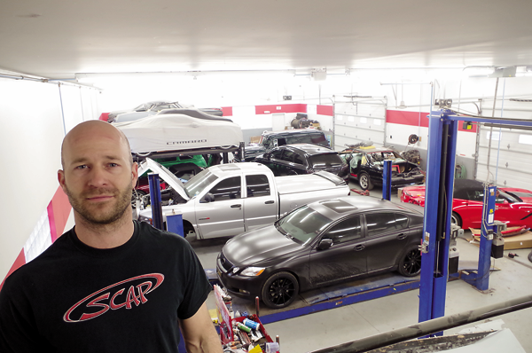 Mark Abate has a full garage at SCAP, 1939 Grand Island Blvd.
