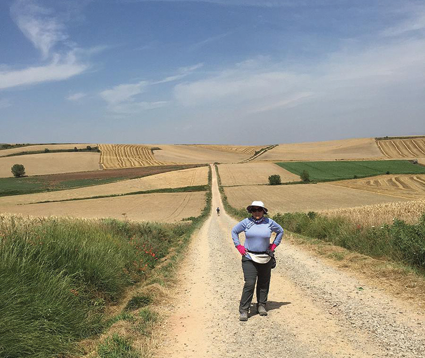 On Day 11 of her European pilgrimage along St. James Way, Grand Islander Zdenka Gast walked 19 miles through fields, with not a single tree in sight for 5 miles to provide shade from the blistering 100-degree heat.