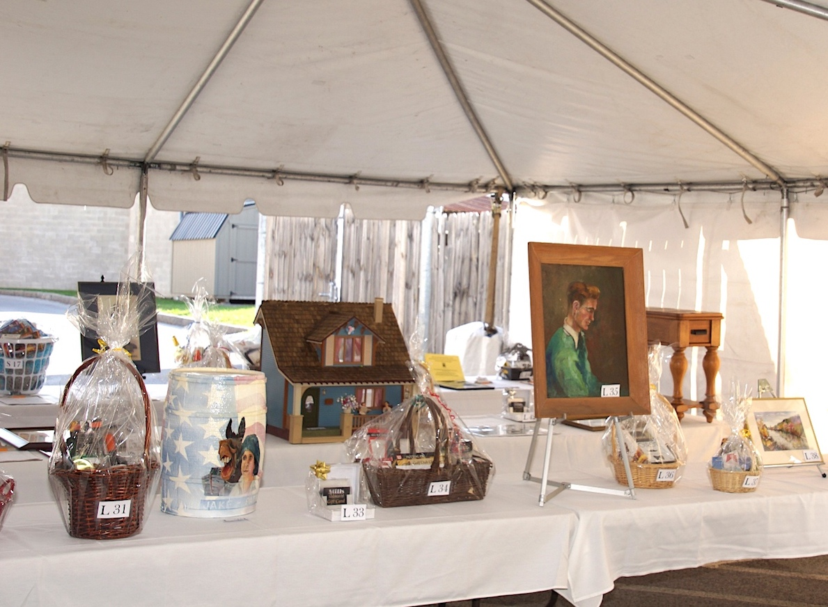 `Treasures Under the Tent,` the Niagara History Center's gala fundraiser, will offer more than 40 silent and live auction items, including a wide variety of gift baskets and packages, such as these auctioned at the 2016 celebration.