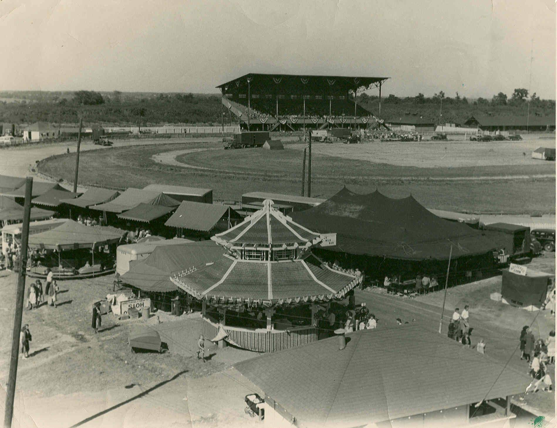 The Vernor's Pavilion was a regular sight at the Niagara County Fair in the 1940s. (Photo provided by History Center)