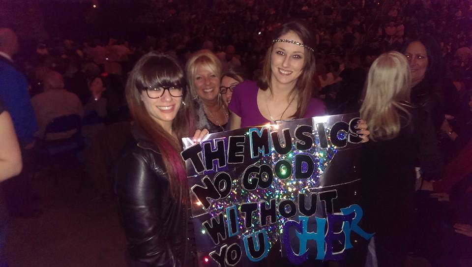Cher fans, including the author, at her Buffalo concert.