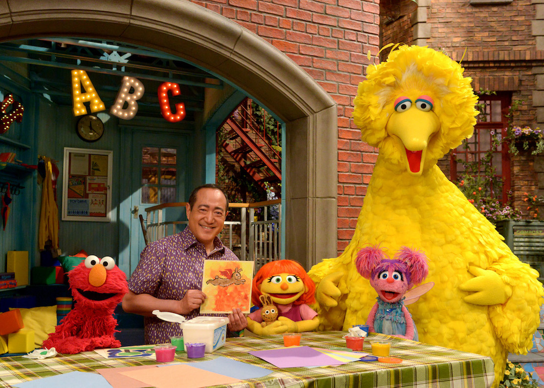 Meet Julia: Pictured is a scene from season 47 of `Sesame Street.` (Photo by Zach Hyman)