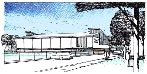Pictured is an artist's rendering of The Niagara Community Center.