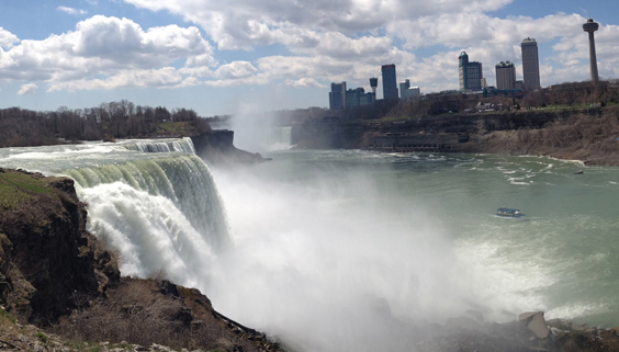 On looking Niagara Falls