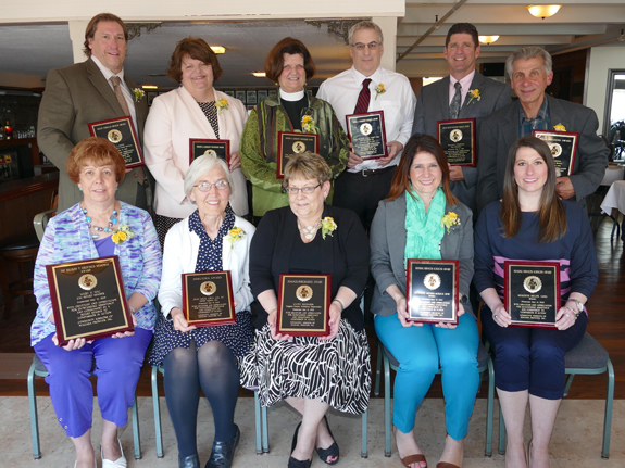 Pictured are the award winners from Community Missions' 23rd annual Compassion in Action Awards Brunch held at the LaSalle Yacht Club on Thursday.