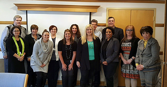 Members of the Care Coordination Training Task Force met recently at Niagara Falls Memorial Medical Center.