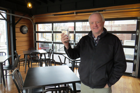 The Craft proprietor Shawn Weber stands inside the restaurant's dining room. The Third Street eatery is about to open in downtown Niagara Falls.