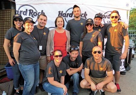 Hard Rock crewmembers work at Artpark.
