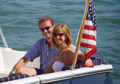 Lori Burns and her father, Barry Deal, enjoyed a day on the river at the 2014 Jack Beatty Memorial Hospice Cruise and Clambake. (photo by Melanie Tisdale)