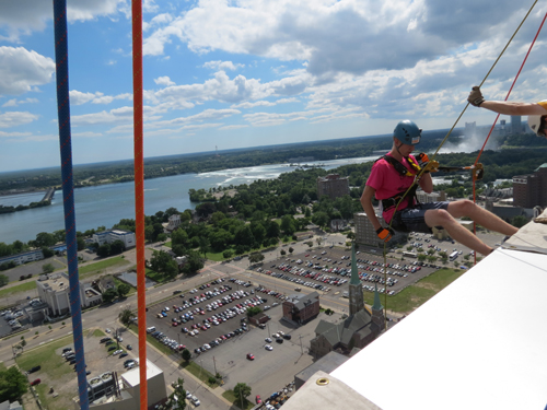NFP intern Mark Dryfhout went to great lengths for this story. (photo by Joshua Maloni; find more in the Photo Gallery)