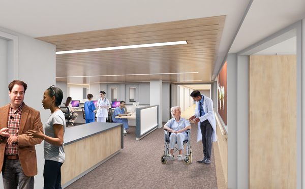 Pictured is an artist's rendering of the new cardiac stroke care station.