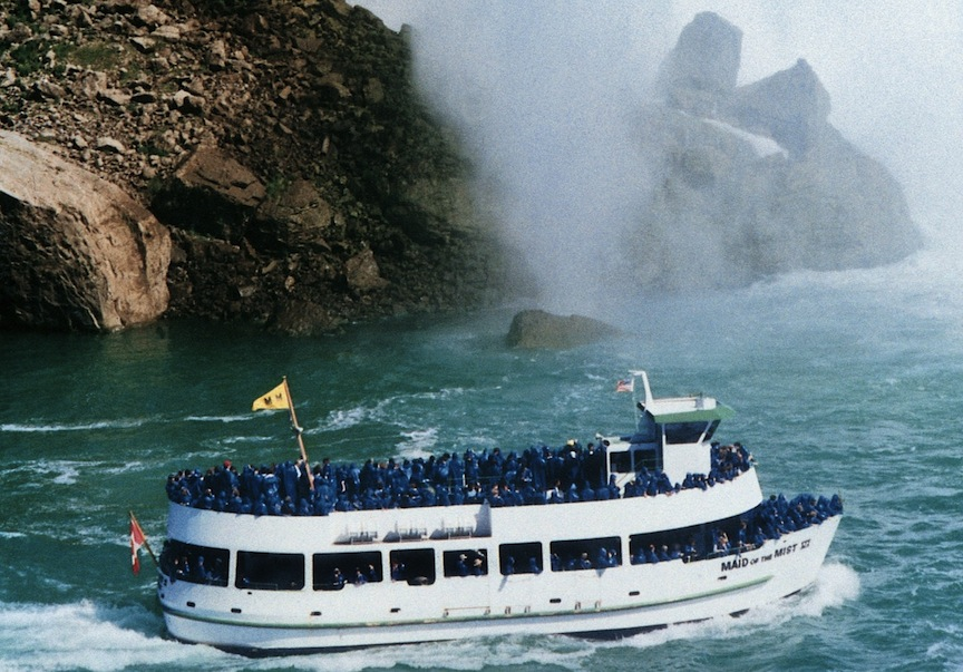 The Maid of the Mist in Niagara Falls.