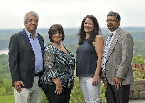 In photo, from left: Gary Hall, Francine Hall, Christin Kolli and Dr. Venkat R. Kolli.