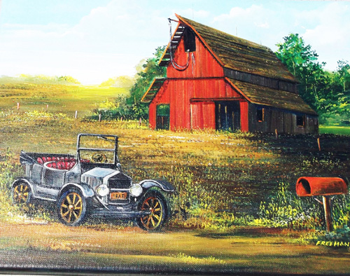`Country Classic,` an acrylic by Earl Freeman.