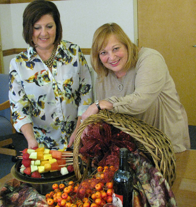 Pictured, from left, are Judy Villani and Teresa Ruffolo.