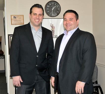 Shown, from left, are 2016 Niagara Cup Classic chairmen Michael Cardamone, D.C., of Cardamone Chiropractic and Douglas E. Mooradian of Pine Pharmaceuticals.