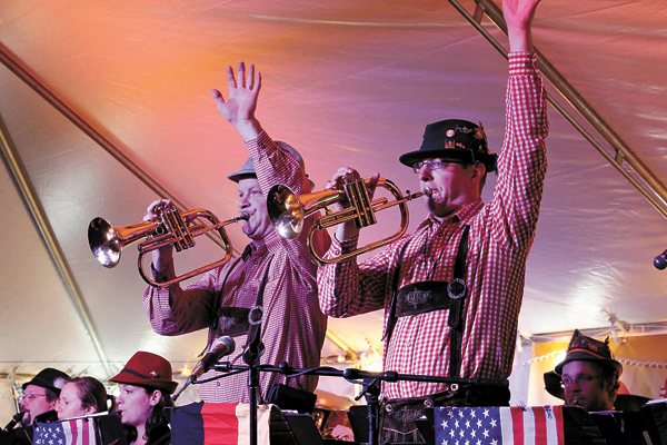 Members of the German-American Musicians Association perform at last year's Oktoberfest on Old Falls Street. (Photo courtesy of Old Falls Street, USA.)