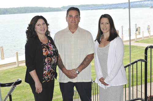 Pictured, from left: Lucy Muto, Dominick Muto, Renee Taefi Baughman, M.D.