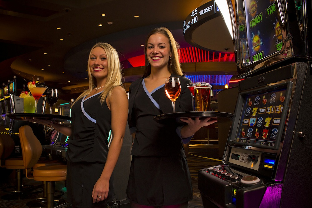 Pictured are two Seneca team members at the new Seneca Buffalo Creek Casino.