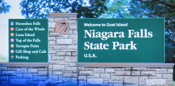 Pictured is new signage set to appear across the New York State Office of Parks, Recreation and Historic Preservation system.