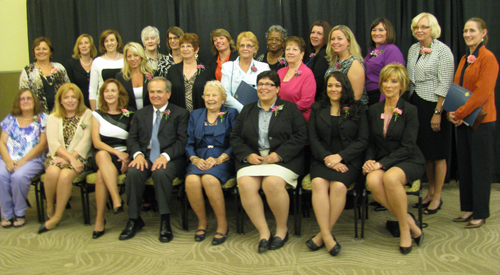 State Sen. George Maziarz sits with YWCA of Niagara awardees.
