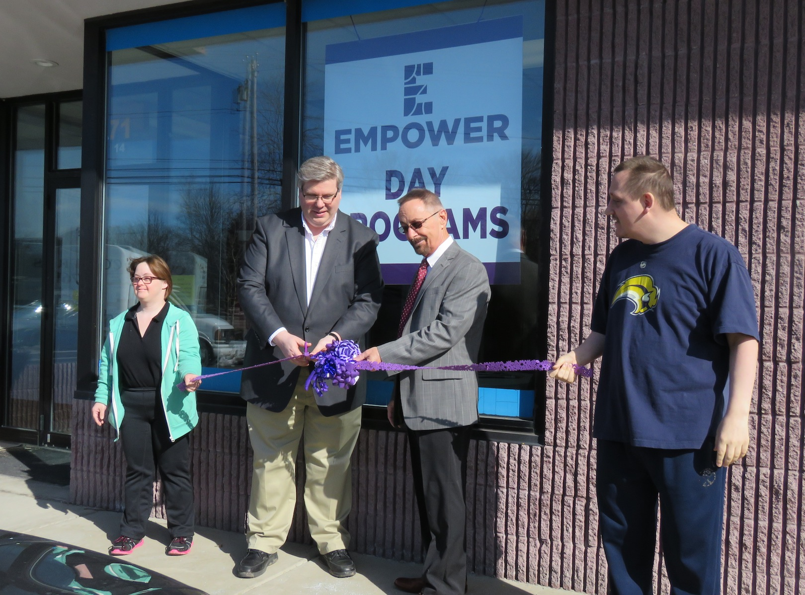 Pictured, from left, Denise Dean, Empower CEO Jeff Paterson, Wheatfield Supervisor Don MacSwan and Kevin Hance cut the ribbon to the Wheatfield facility. (Photo by David Yarger)