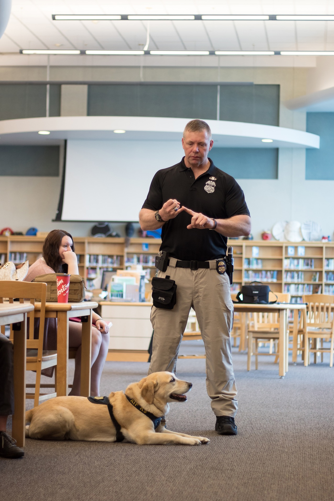 Agent Gerry O'Sullivan and K9 Dolly.